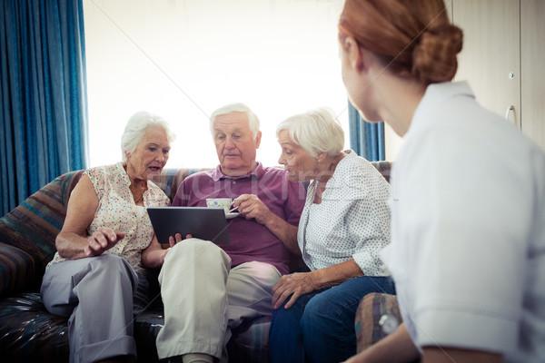Seniors using a tablet computer Stock photo © wavebreak_media