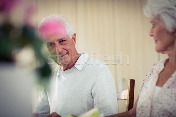 Mittagessen Ruhestand Haus Essen Gesundheit ältere Stock foto © wavebreak_media