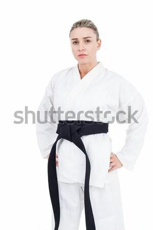 Femenino atleta judo blanco mujer Foto stock © wavebreak_media