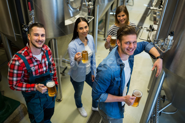 Vidrio cerveza pie cervecería retrato Foto stock © wavebreak_media