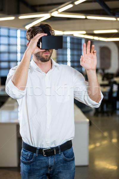 ビジネスマン バーチャル 現実 小さな 男 企業 ストックフォト © wavebreak_media