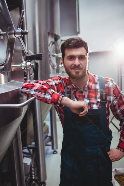 Mężczyzna producent stałego browar portret przechowywania Zdjęcia stock © wavebreak_media