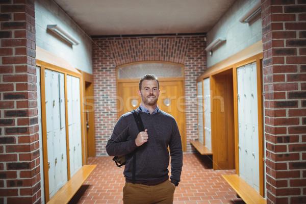 зрелый студент Постоянный раздевалка портрет колледжей Сток-фото © wavebreak_media