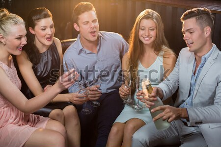 Három női barátok egyéb tequila bár Stock fotó © wavebreak_media