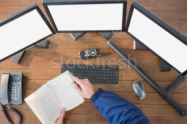 Security reading a novel Stock photo © wavebreak_media