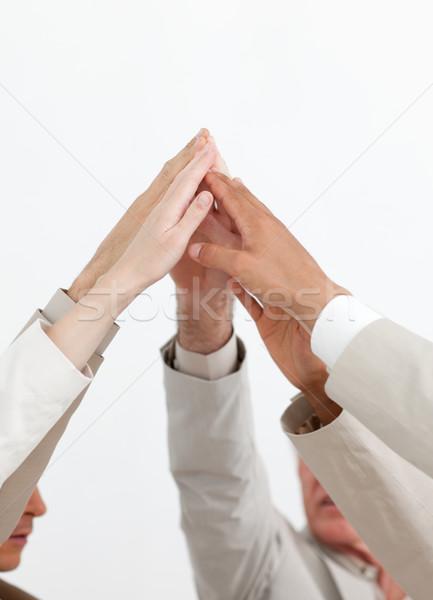 деловые люди команде дух руки вверх вместе Сток-фото © wavebreak_media