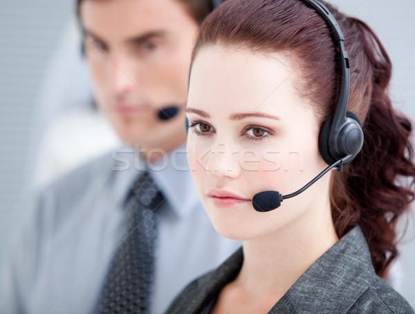 Assertive customer service representatives standing in a line Stock photo © wavebreak_media