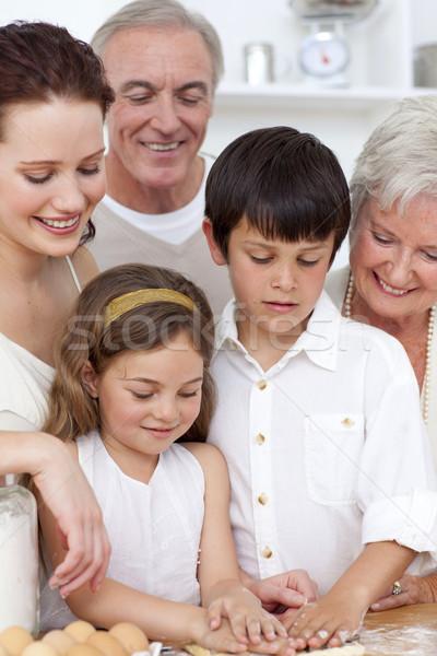 祖父母 見える 子供 キッチン 少年 ストックフォト © wavebreak_media
