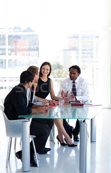 üzleti csapat együtt dolgozni iroda copy space nemzetközi üzlet csapat Stock fotó © wavebreak_media