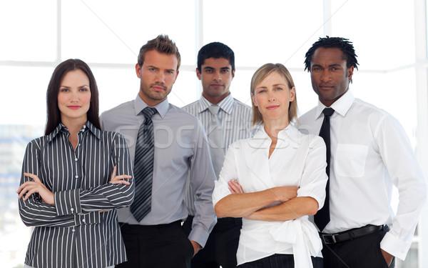 Stockfoto: Portret · business · team · kantoor · business · zakenman · team