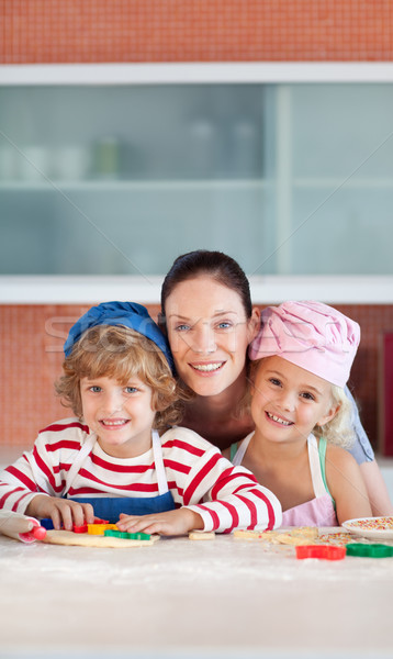 Portre aile mutfak birlikte Stok fotoğraf © wavebreak_media