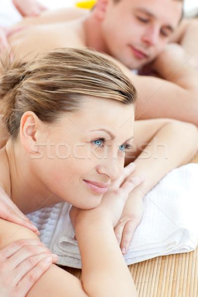красивая женщина сообщение дружок Spa центр Сток-фото © wavebreak_media