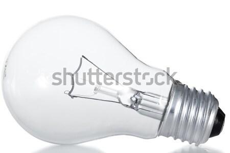 Villanykörte fehér technológia üveg háttér fém Stock fotó © wavebreak_media