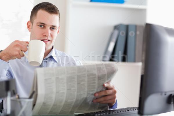 Businessman taking a short coffee break Stock photo © wavebreak_media