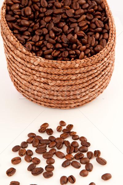 Cesta café sementes branco natureza Foto stock © wavebreak_media