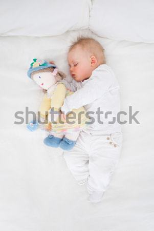 Baby slapen teddybeer slaapkamer bed Stockfoto © wavebreak_media