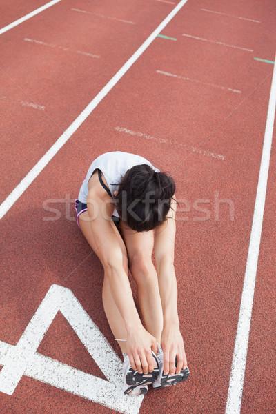 Runner stretching legs Stock photo © wavebreak_media