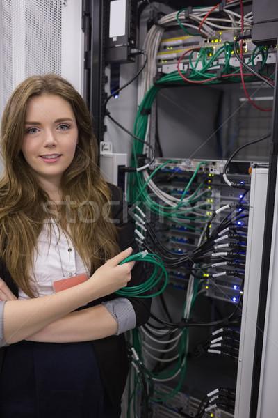 Usb cavo rack server Foto d'archivio © wavebreak_media