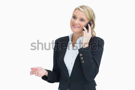 Smiling business woman on phone Stock photo © wavebreak_media