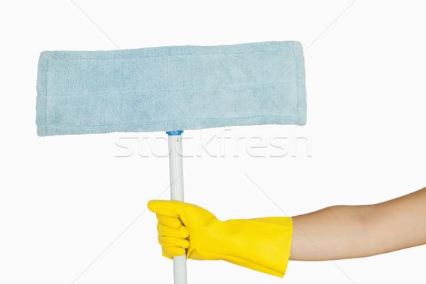El kauçuk eldiven mavi Stok fotoğraf © wavebreak_media
