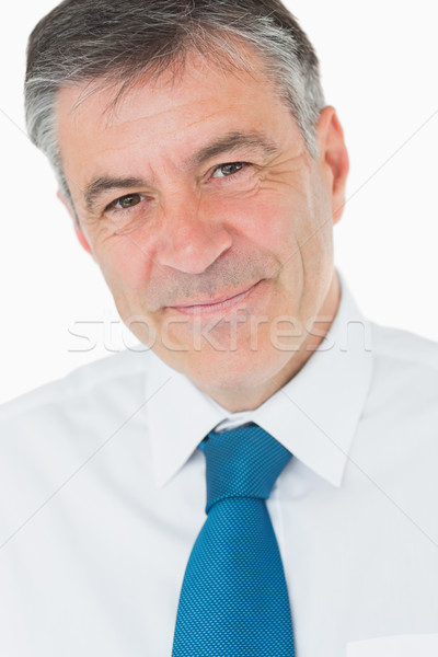 Glimlachend zakenman shirt stropdas grijs haar zakenlieden Stockfoto © wavebreak_media