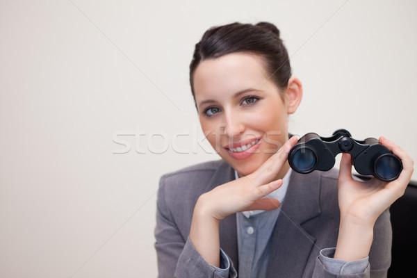 Portrait femme d'affaires jumelles souriant jeunes blanche Photo stock © wavebreak_media