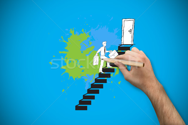 Composite image of hand holding a pencil Stock photo © wavebreak_media
