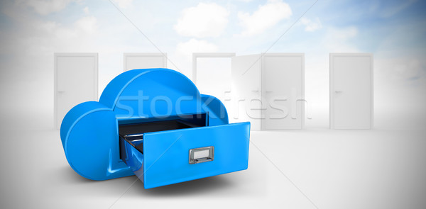 Stock photo: Composite image of cloud computing drawer