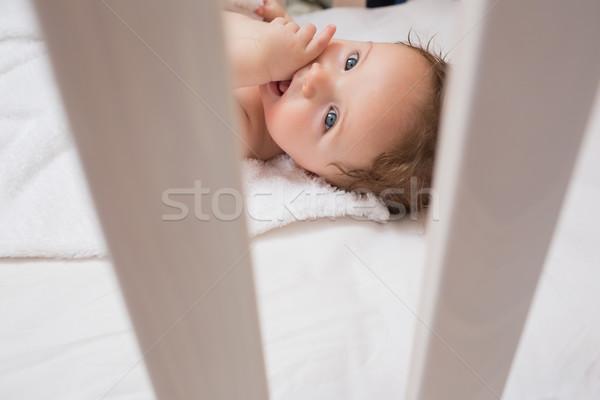ストックフォト: 赤ちゃん · 指 · 口 · 肖像 · 家