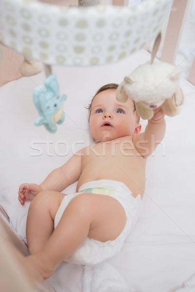 ストックフォト: 愛らしい · 赤ちゃん · 演奏 · おもちゃ