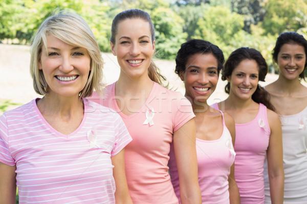 Volunteers participating in breast cancer awareness  Stock photo © wavebreak_media