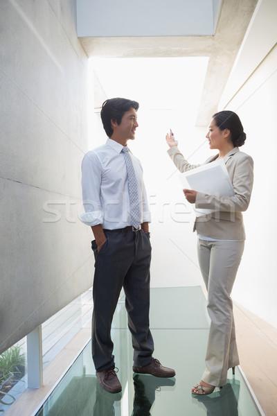 Estate agent speaking with potential buyer Stock photo © wavebreak_media
