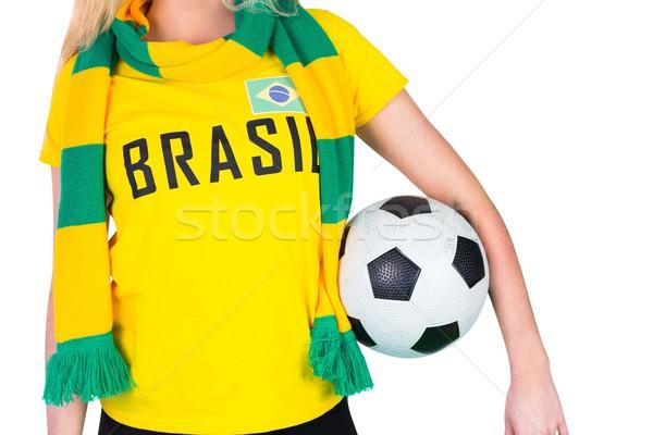 サッカー ファン ブラジル Tシャツ ボール ストックフォト © wavebreak_media