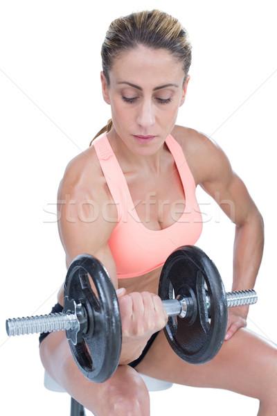 Forte mulher grande branco corpo Foto stock © wavebreak_media