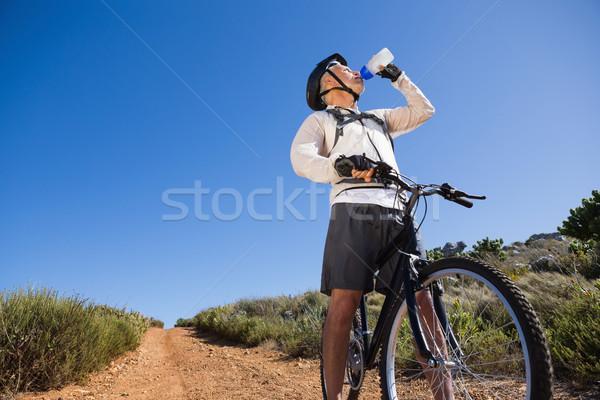 соответствовать велосипедист питьевая вода стране местность Сток-фото © wavebreak_media
