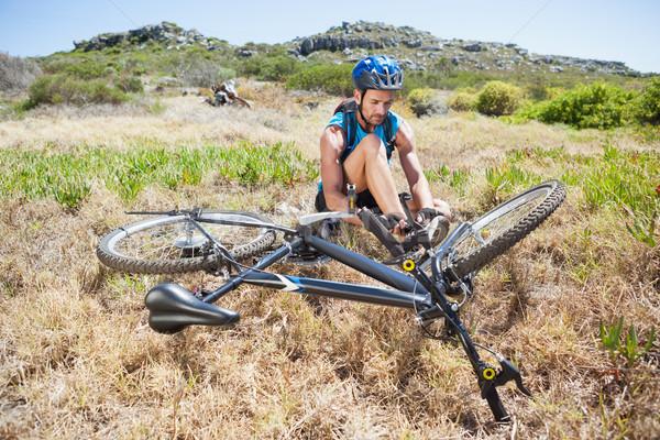 Geschikt fietser berg parcours fiets Stockfoto © wavebreak_media