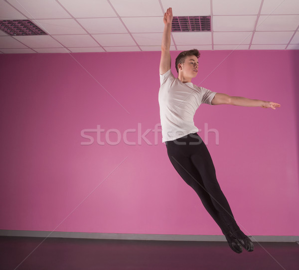 Focused male ballet dancer leaping up Stock photo © wavebreak_media