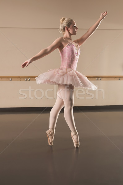 Stock photo: Beautiful ballerina dancing en pointe