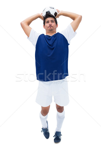 Futbolista blanco pelota deporte fútbol Foto stock © wavebreak_media