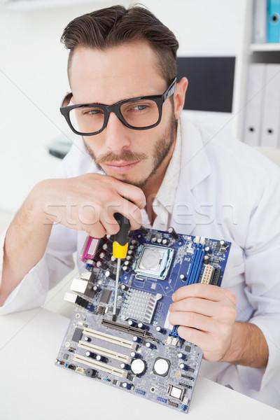 Computador engenheiro trabalhando quebrado cpu escritório Foto stock © wavebreak_media
