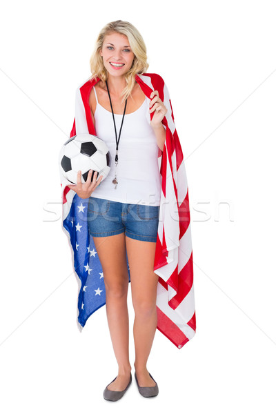 Joli football fan USA Photo stock © wavebreak_media