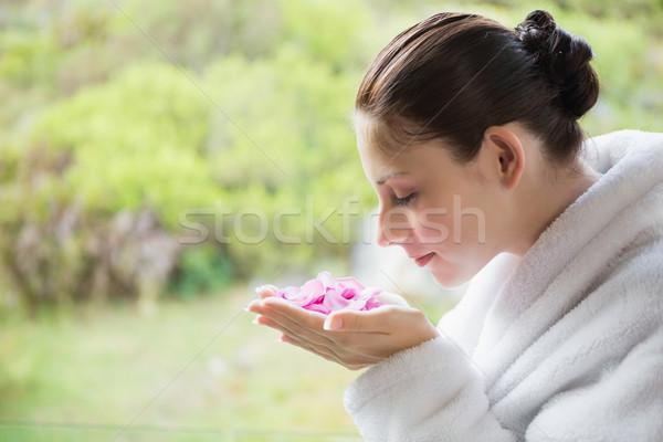 Vista lateral hermosa flores spa Foto stock © wavebreak_media