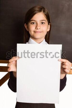 Aranyos mutat fehér oldal osztályterem iskola Stock fotó © wavebreak_media