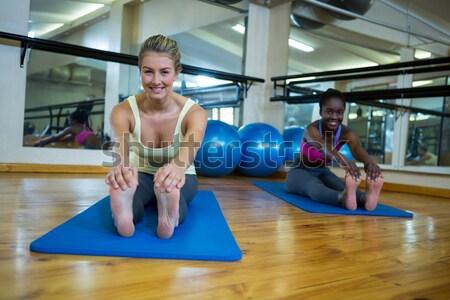соответствовать брюнетка пилатес осуществлять женщину спорт Сток-фото © wavebreak_media