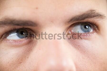 Adam beyaz üzücü portre erkek Stok fotoğraf © wavebreak_media