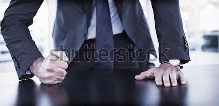 Angry businessman thump the table Stock photo © wavebreak_media
