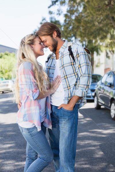 Attractive couple standing and hugging Stock photo © wavebreak_media