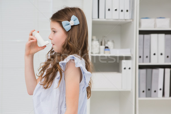 Little girl taking inhaler  Stock photo © wavebreak_media