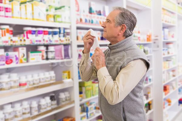 Enfermos cliente farmacia hombre Foto stock © wavebreak_media