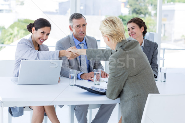 Intervista pannello ascolto richiedente ufficio business Foto d'archivio © wavebreak_media